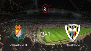 El Valladolid B se hace fuerte en casa y derrota al Barakaldo