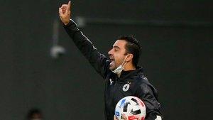 Xavi Hernández, durante el partido ante el Persépolis