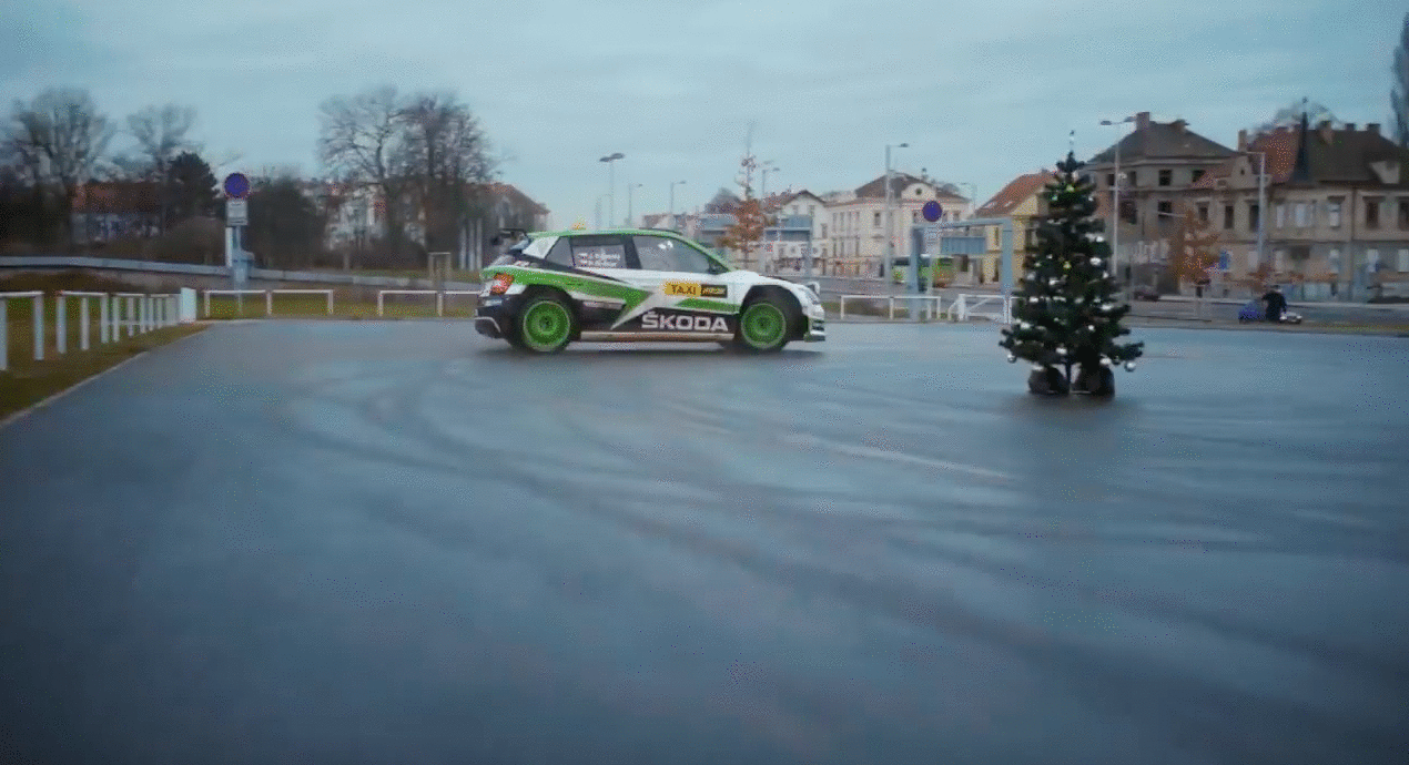 koda motorsport fabia r5 raced passengers through pragueyoutubecom